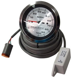 100 MPH GPS Speedometer Gauge Kit - 3-3/8""
