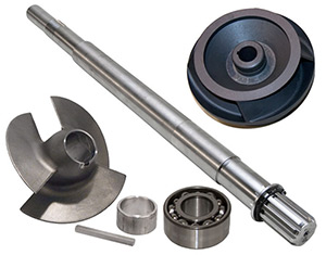 Aluminum Impeller, Inducer & Shaft Kit