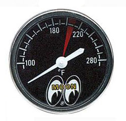 "Mini 1-1/2"" Moon Head Temperature Gauge"