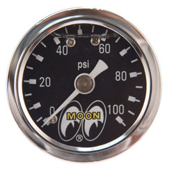 "0-100 PSI 1-1/2"" Liquid Filled Fuel Pressure Gauge"
