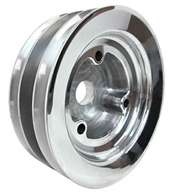 Small Block Chevy 3 V-Groove Crank Pulley