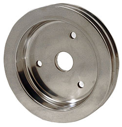2- Groove Billet Crankshaft Pulley For Big Block Chevy