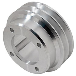 2- Groove Billet Crankshaft Pulley For Oldsmobile
