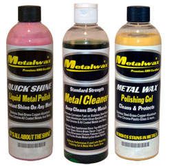 Metal Wax, Cleaner & Polish 8 Oz. Kit