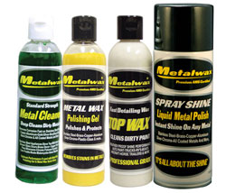 Metal Wax, Cleaner, Top Wax & Polish 8 Oz. Starter Kit