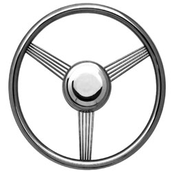 "14 3/4"" Polished Grip / Highly Polished Spoke Banjo Steering Wheel"