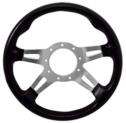 "13"" Black Grip / Polished Spoke F9 Steering Wheel"