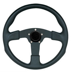 "13-1/2"" Black Grip / Black Spoke Formula GT Steering Wheel"