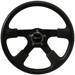 "14"" Black Grip Steering Wheel"