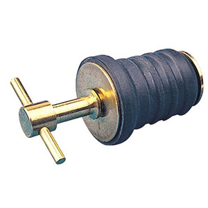 T-Handle Twist-In Drain Plug- Brass