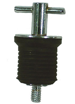 T-Handle Twist-In Drain Plug- Stainless Steel