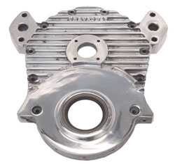 Finned Aluminum Cam Drive Timing Cover - Gen 4 Big Block Chevy