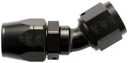 Black 30 Degree Double-Swivel AN Hose End