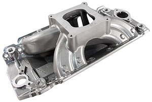 XS Xtreme Polished Single Plane Intake Manifold For BBC - Oval Port