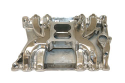 Polished Crosswind 455 Olds Intake Manifold