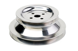 Dual Groove Sea Pump Pulley for use with Crossover Power Steering Systems