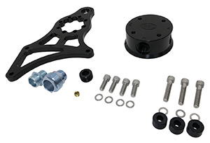 Remote Horizontal Rear Port Cylinder Head Mount HP4 or HP6 Oil Filter Head - Black