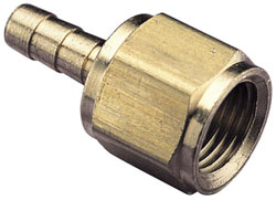 "1/8"" NPT Female to 1/8"" Male Push-on Hose Speedometer Fitting"
