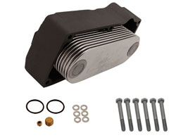 13 Plate Stainless Steel Oil Cooler Kit (Port)