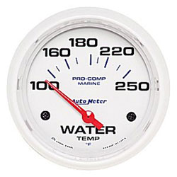 "Autometer 2-5/8"" Electric Water Temperature 100-250F"