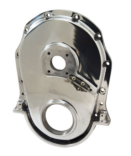 Polished Aluminum Timing Cover With Pump Drive Hole - Big Block Chevy Gen 4