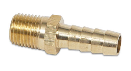 Derale 98234 90/° Hose Fitting 3//8 NPT Male x 3//8 Barb