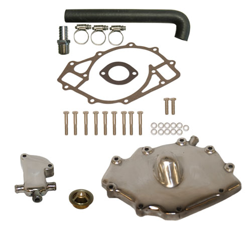 Polished Aluminum 460 Ford Thermostat Kit