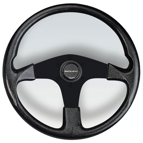 Corse Black Aluminum Spoke Steering Wheel, 13.8