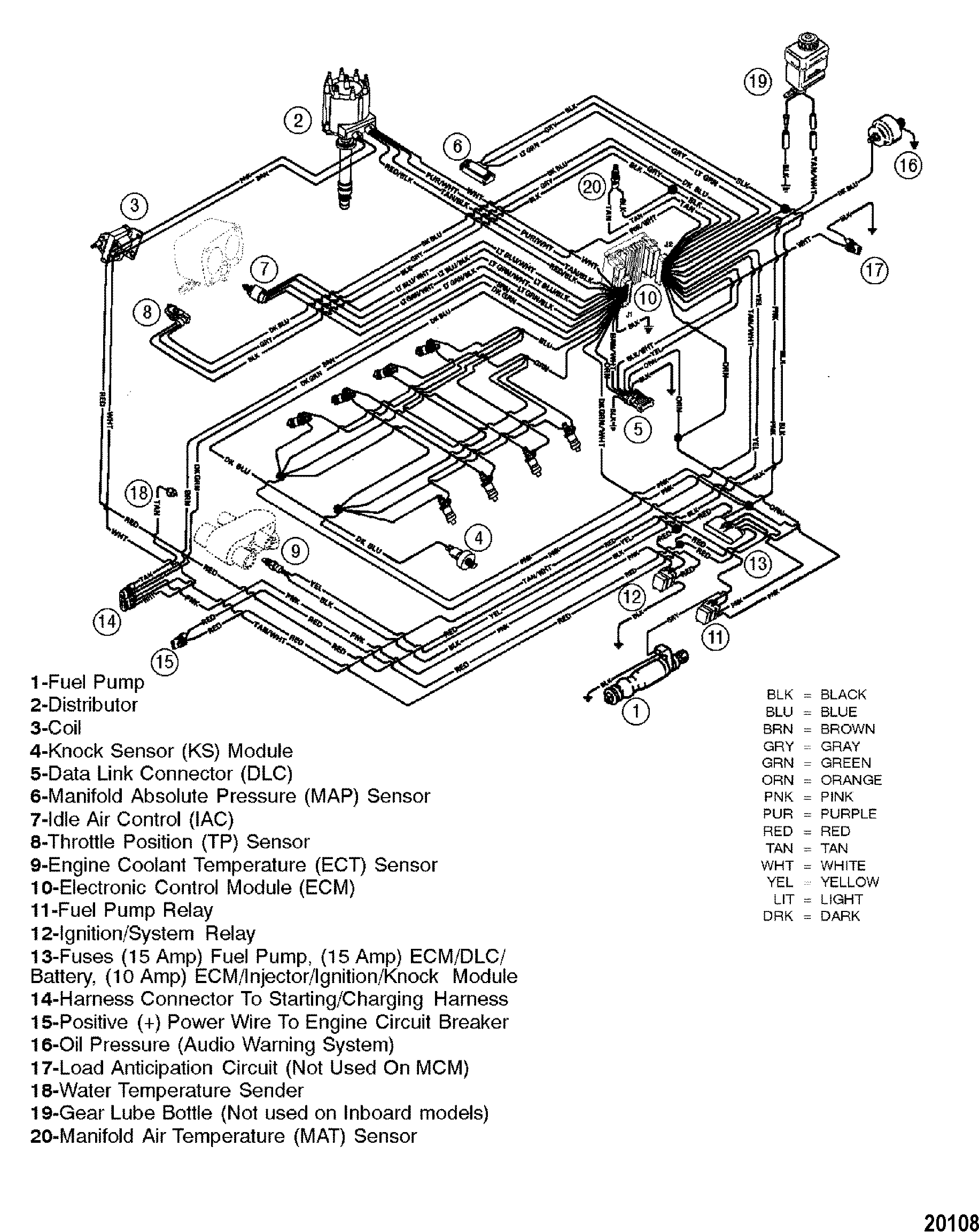 20108 cp performance wiring harness (efi) mercruiser wiring harness diagram at bayanpartner.co
