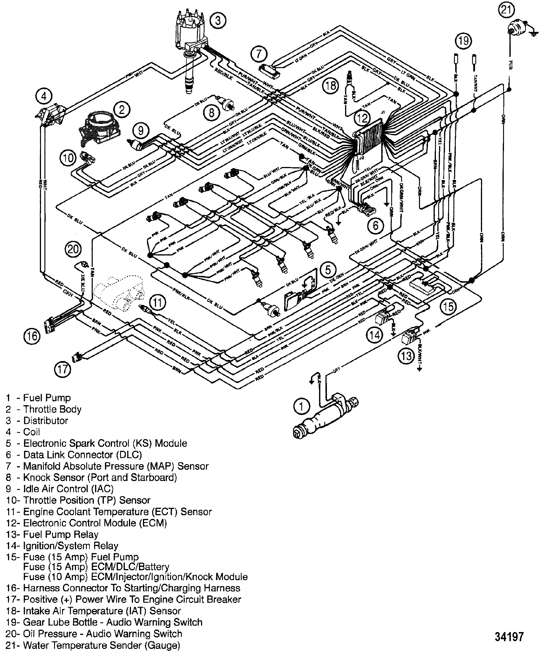 34197 cp performance wiring harness (efi) mercruiser wiring schematic at bayanpartner.co