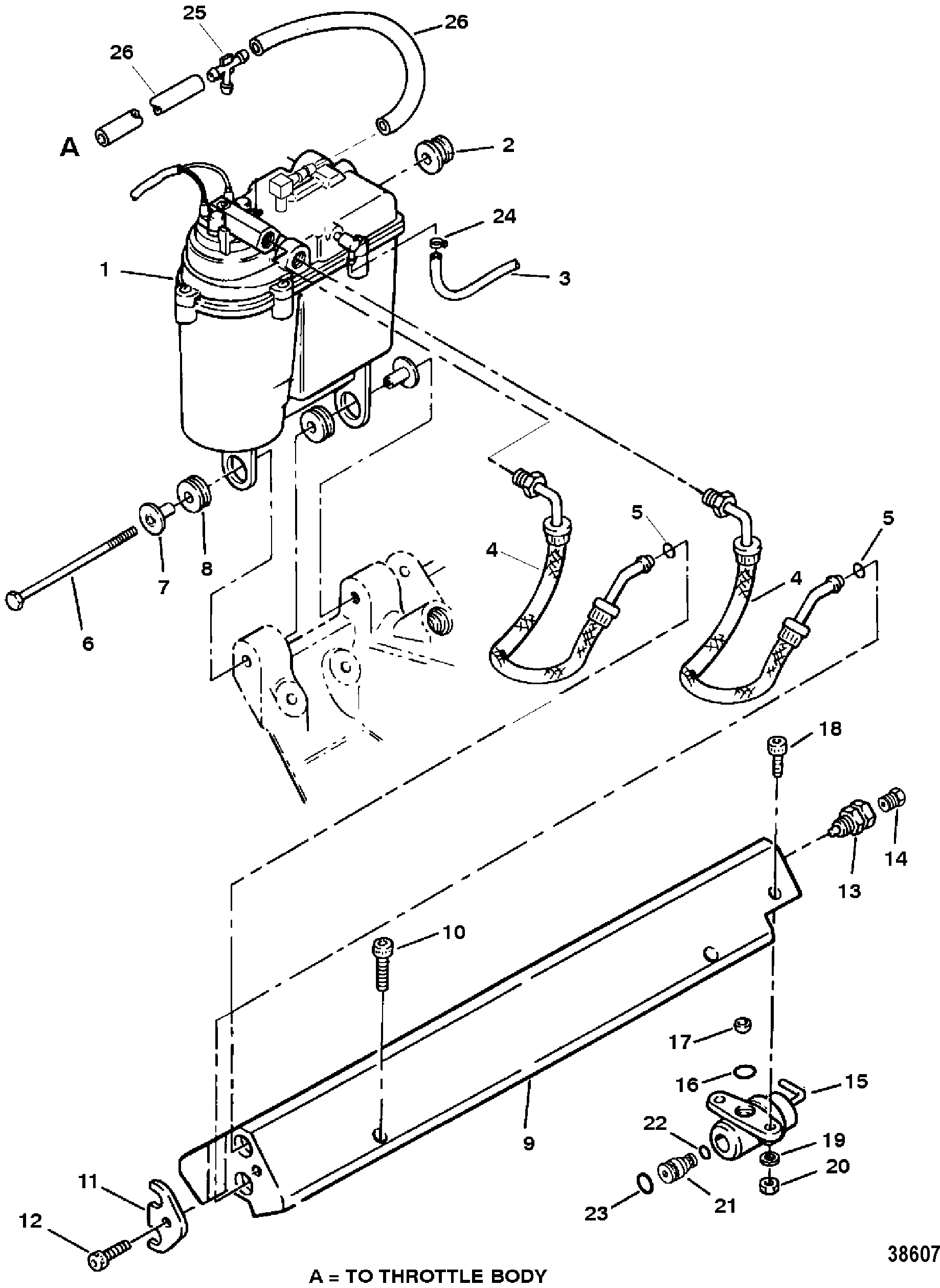 38607 cp performance vapor separator tank and fuel rail 1996 mercruiser 5.7 wiring diagram at panicattacktreatment.co