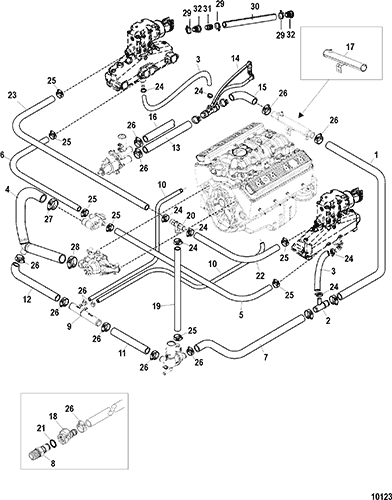 10123  L Engine Water Circulation Diagram on