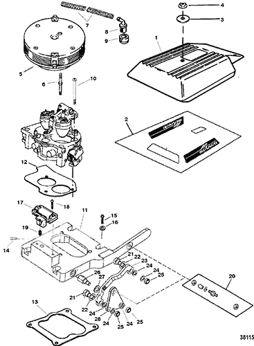 Diagram Of 1986 Mercruiser 37016856 Fuel Pump And Fuel Filter
