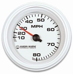 "3-3/8"" White, Black or Stainless 80 MPH Speedometer Head Only"
