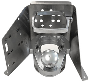 Mayfair Billet Aluminum Trim Tank Reservoir with Floor  Mount Bracket
