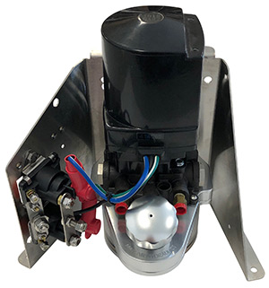 Mayfair Billet Aluminum Trim Tank Reservoir and Hardin Trim Pump with Floor  Mount Bracket