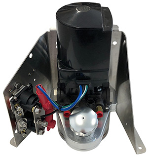 Mayfair Billet Aluminum Trim Tank Reservoir and Bravo Trim Pump with Floor  Mount Bracket