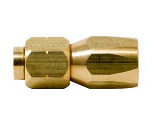 Hose End, - 6 STR Brass SAE