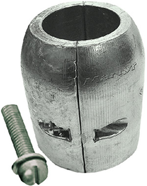 Clamp Shaft Aluminum Anode With Slotted Screw, 25mm