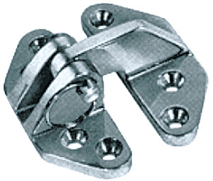 "Attwood Hatch Hinge Stainless Steel, Open Size 3-1/2"" x 1-3/8"""