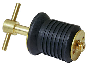 "Attwood 1"" Drain Plug with Brass T-Handle"""