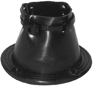 "2"" Cable Boot Black Bulk"""