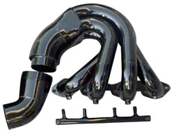 Below Swim Platform Low Port Exit Jacketed Headers - 454/502 Chevy