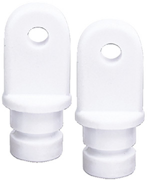 "Internal Eye End, 7/8"" White, Pair"""