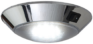 Day/Night Dome Light - Incandescent, Chrome