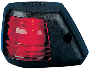 Aqua Signal 20302 Series 20 12v Navigation Light For Power Boats Up To 39', Port Side Mount, Black