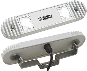 "Aqua Signal Bristol"" Led Deck Light With Bracket, White"""