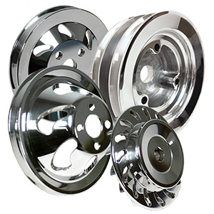 Billet V-Groove Engine Pulley Kit For Mercury Big Block Chevy Generation 5 & 6