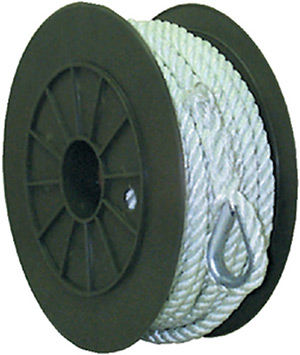 3-Strand Twisted Nylon Anchor Line<BR>White, 1/2&quot; x 100'