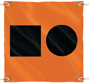 Seachoice 3' x 3' Orange Distress Signal SOS Flag